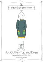 MBJM Hot Coffee Top & Dress Ladies Pattern Size XXS-5XL