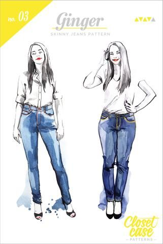 Closet Case Ginger Skinny Jeans Sewing Pattern