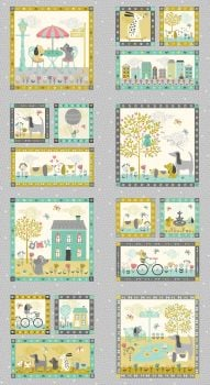 Makower A Walk In The Park Fabric Panel