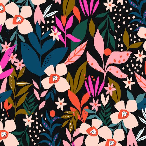 Dashwood Studio Soiree Secret Garden Cotton Fabric