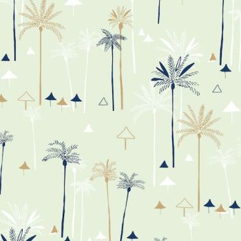Dashwood Studio Ocean Drive Palm Trees Cotton Fabric