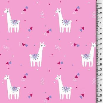 Cotton Poplin Llama Fabric