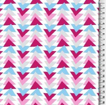 Cotton Poplin Triangles Fabric