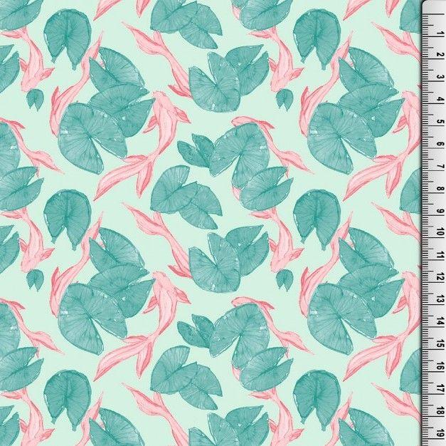 Cotton Koi Fish Fabric