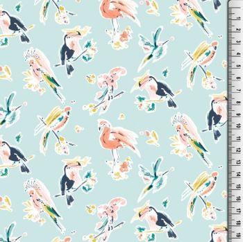 Viscose Birds Of Paradise Fabric