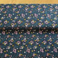 Jersey Fabric Navy Stems
