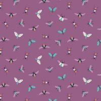 Indigo Fabrics Cotton Bugs