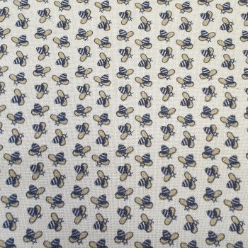 Indigo Fabrics Cotton Busy Bee