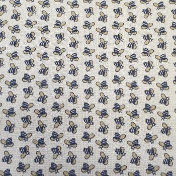Indigo Fabrics Cotton Busy Bee