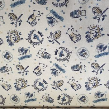 Indigo Fabrics Cotton Melby
