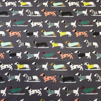 Cotton Fabric Sausage Dog Print