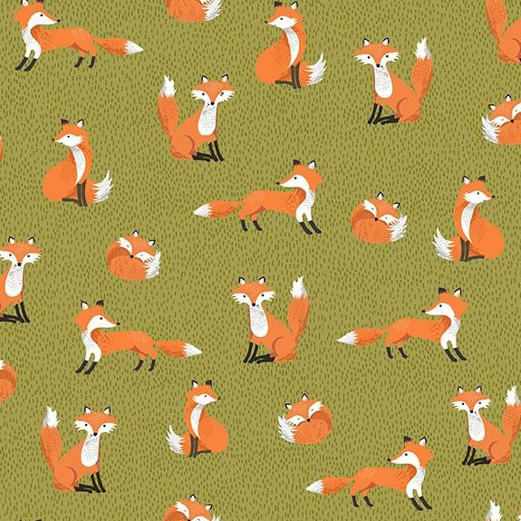 Makower Forest Foxes Cotton Fabric