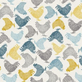 Makower Groves Chicken Cotton Fabric
