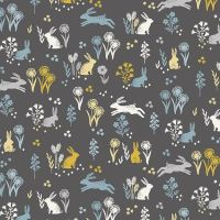 Makower Groves Rabbits Cotton Fabric