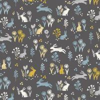 Makower Groves Rabbits Cotton Fabric