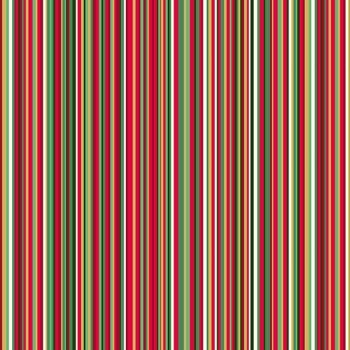 Makower Christmas Twelves Days Metallic Stripes Cotton Fabric