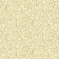Makower Christmas Twelve Day Metallic Scroll Cream Cotton Fabric