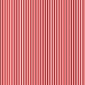 Makower Festive Christmas Pinstripe Red Cotton Fabric