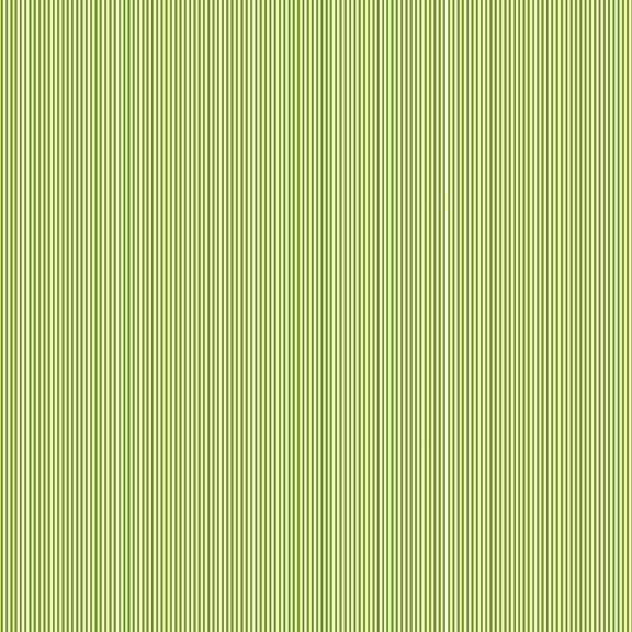 Makower Festive Christmas Pinstripe Green Cotton Fabric