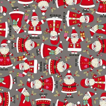 Makower Festive Christmas Santa Cotton Fabric