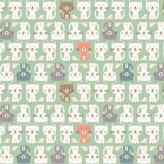 Makower Cool Cats Parade Cotton Fabric