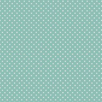 Makower Cool Cats Polka Dot Teal Cotton Fabric