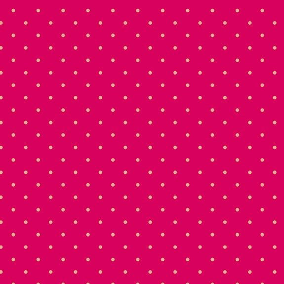 Makower Sweet Shoppe Too Ruby Dot Cotton Fabric
