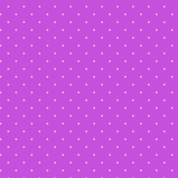 Makower Sweet Shoppe Too Grape Dot Cotton Fabric