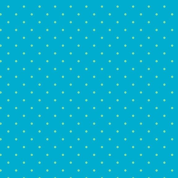 Makower Sweet Shoppe Too Teal Dot Cotton Fabric