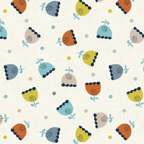 Dashwood Studio Laska Tulips Cotton Fabric