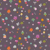 Dashwood Studio Walk In The Woods Mushrooms Cotton Fabric