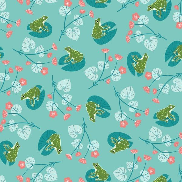 Dashwood Studio Rivelin Valley Frogs Cotton Fabric