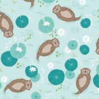 Dashwood Studio Rivelin Valley Otters Cotton Fabric