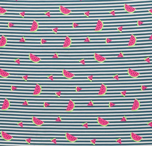 Neon Watermelon Cotton Jersey Fabric