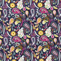 French Terry Paisley Fabric