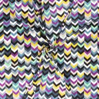 Chevron Cotton Viscose Mix Fabric