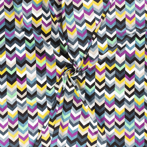 Chevron Cotton Viscose Mix Fabric