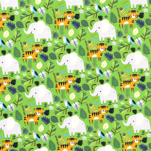 Animal Jungle French Terry Fabric
