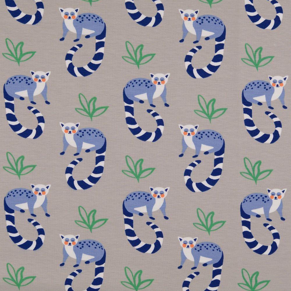 Lemur Grey Organic Cotton Jersey Fabric