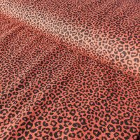 Leopard Print Terracotta Cotton Jersey Fabric