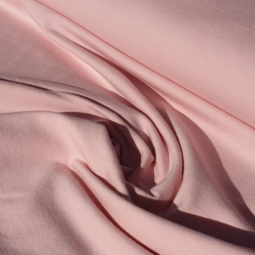 Plain Baby Pink Organic Cotton Jersey Fabric