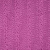 Purple Jacquard Cable Knit Fabric
