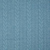 Denim Blue Jacquard Cable Knit Fabric
