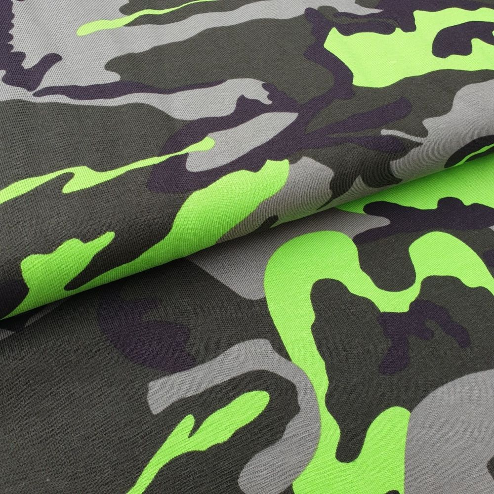 Army Green Cotton Jersey Fabric