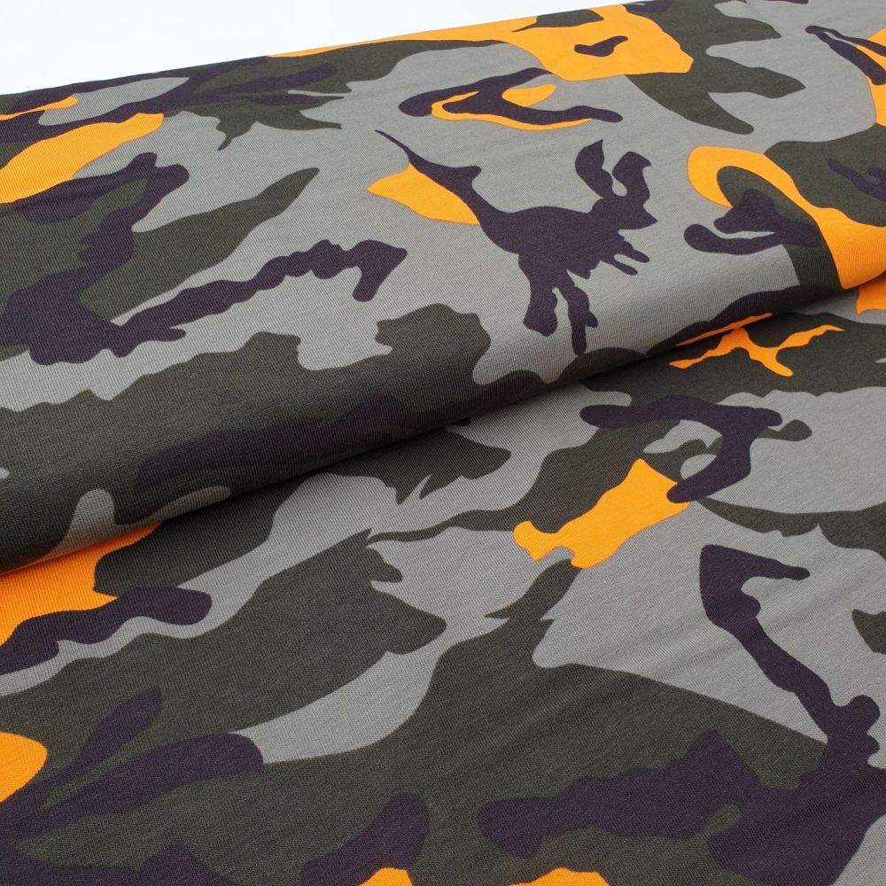 Army Orange Cotton Jersey
