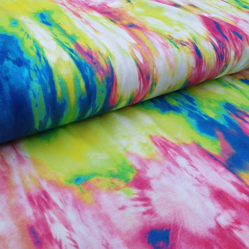 Tie Dye Viscose Jersey Fabric