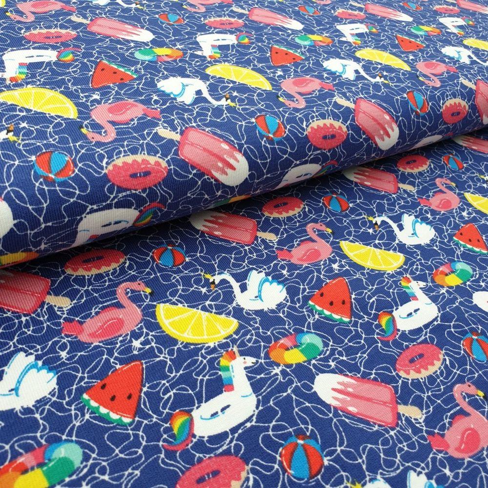 Beach Vibes Cotton Jersey Fabric