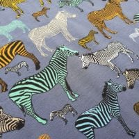 Zebras French Terry Cotton Jersey Fabric