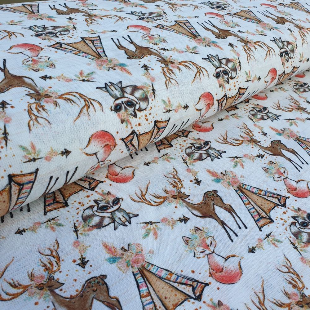 Teepee Tents Cotton Fabric