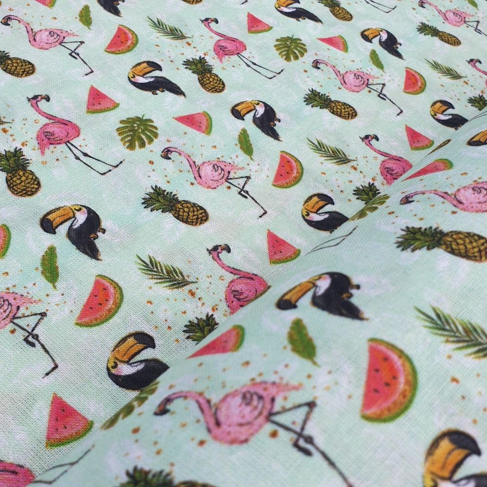 Tropical Fruit Cotton Fabric